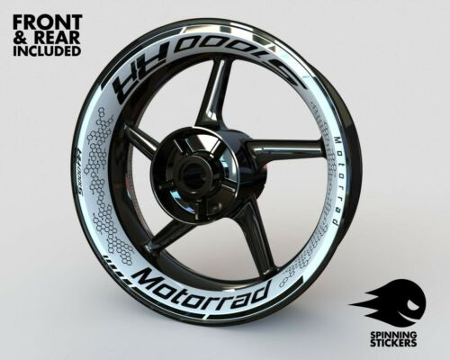 """Wheel Stickers for BMW S1000RR Rim Tape Motorcycle Decals Graphics 17/"""""""