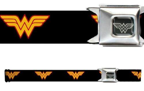 Seat Belt Buckle for Pants Men Women Kids DC Comics Wonder Woman Black WWW003