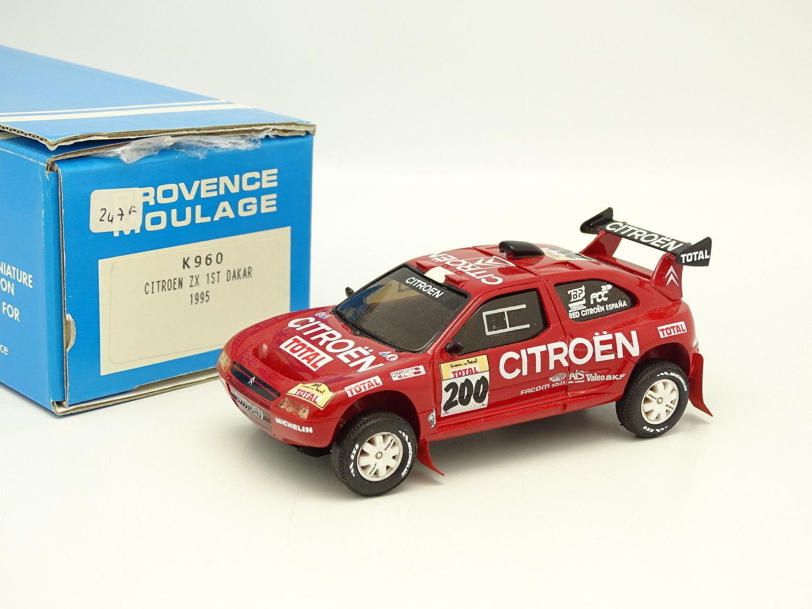 Provence Moulage Kit Monté 1 43 - Citroen ZX Winner Paris Dakar 1995 Lartigue
