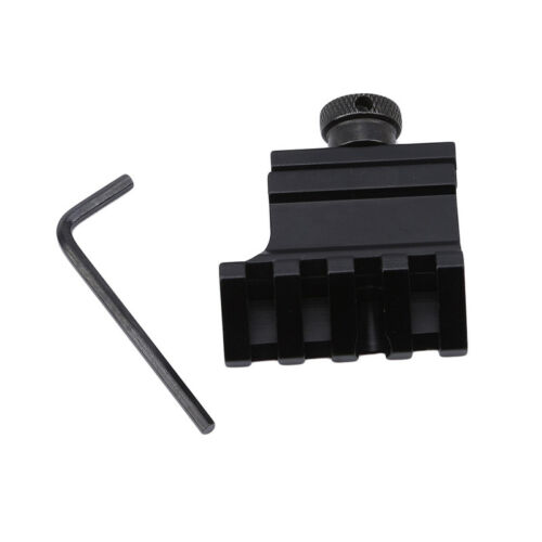 Black 45 Degree Angle Offset Rail Scope Mount Adapter F Scope Laser Sight G