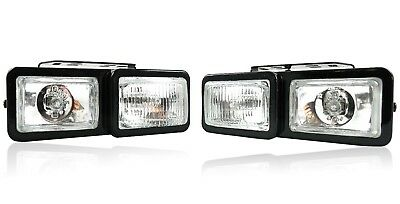 2X Chrome Front LED Lights 12V Spot Fog Halogen Circle Lamps Car Van Bus NEW