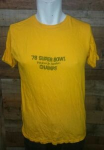 Vintage-Ched-78-super-bowl-Pittsburgh-Steelers-T-shirt-Men-039-s-Shirt-Size-L