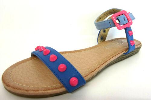 KR Spot On Girls Ankle Strap Sandals Blue H0R116 Sizes