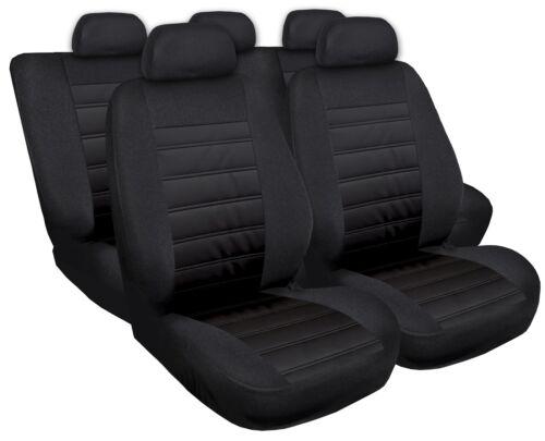 Sitzbezüge Sitzbezug Schonbezüge für Fiat Punto Schwarz Modern MG-1 Komplettset