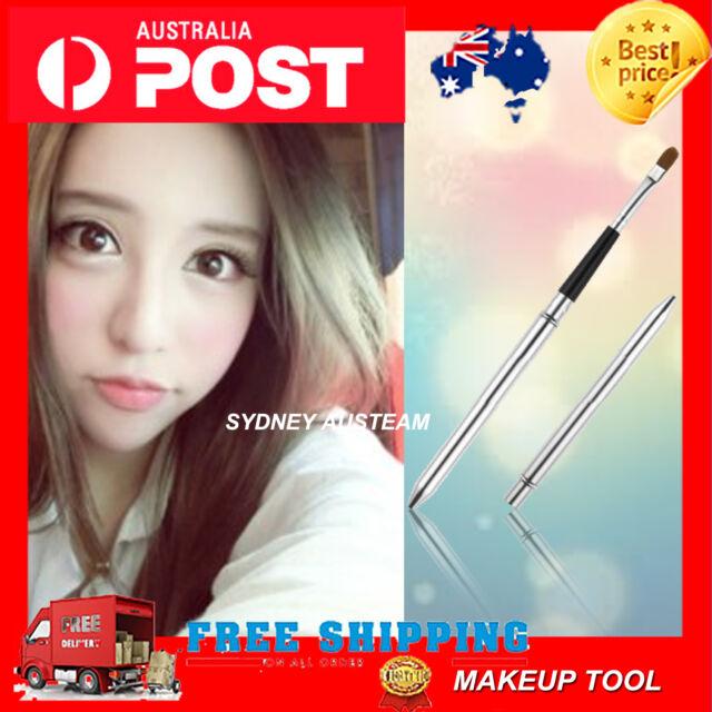 Portable Travel Retractable Lip Eyeliner Brush Makeup Cosmetic Lipstick Gloss FT