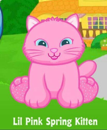 Lil Pink Spring Kitten Webkinz Classic Virtual Pet CODE ONLY