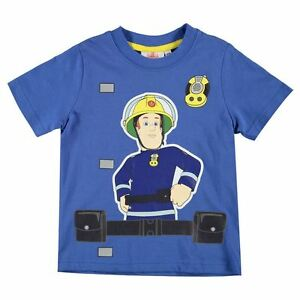 9ba5aeb01035f Fireman Sam Boy Girl Blue T-Shirt - BNWT - Ages 1 to 6 - BRAND NEW ...
