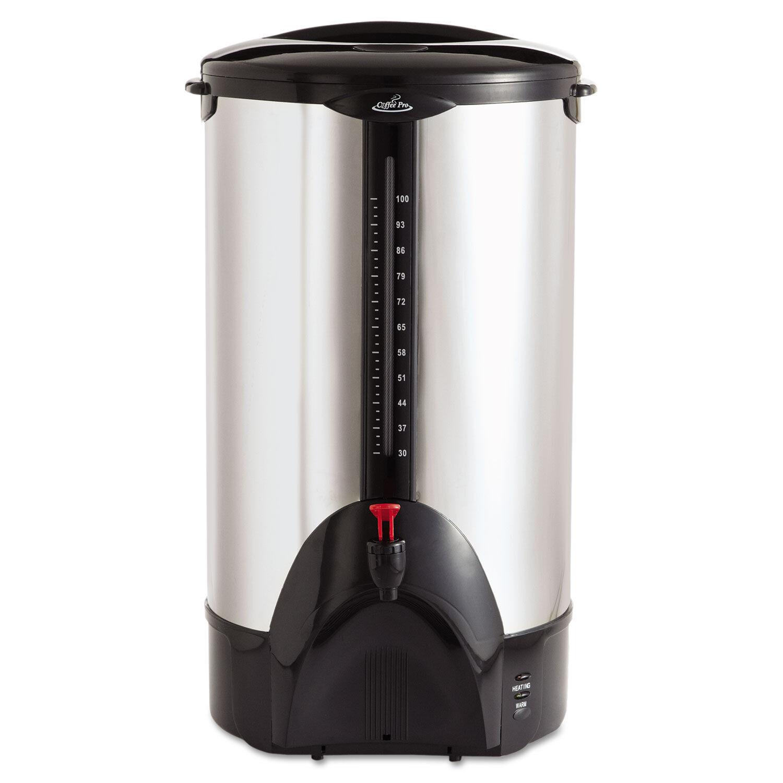 Café Pro 100-Cup de percolation urne en acier inoxydable CP100