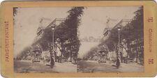 Le Crédit Lyonnais Paris Instantané Stéréo Vintage albumine ca 1870