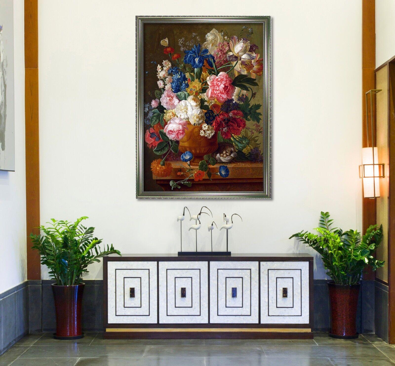 Cartel enmarcado 3D flores hermosas 69 Decoración del Hogar Pintura de Impresión Arte AJ