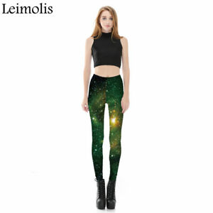 3273aa2f5f9d1 LADIES 3 D PRINT NEW 2019 GALAXY GREEN SPACE GOTHIC PLUS SIZE ...