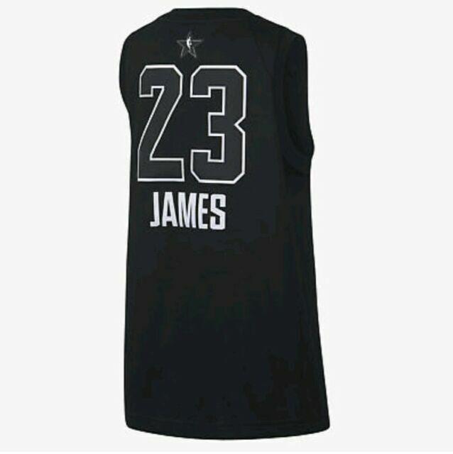 Nike Lebron James 2018 All Star Swingman Youth Sz Large L Black Jersey 9z2b7by3p
