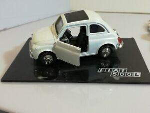 Dettagli Su Modellino 1 18 Fiat 500 L 1968 Welly Diecast Auto D Epoca We1464 Modellismo
