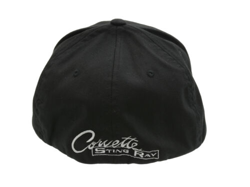 Corvette C2 Flex Fit Hat Black Small Medium Fit