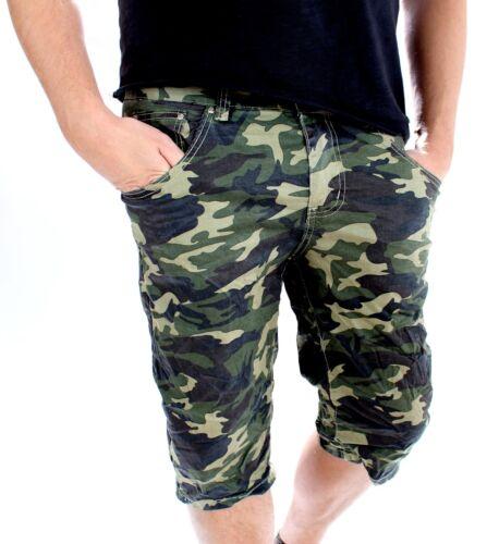 Herren Kurze Hose Camouflage Caprihose 3//4 Hose Sommer Neu Neu Neu