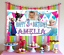 Personalised Frozen Birthday Poster Banner Photo Decorations 3rd 4th 5th 6th 7th