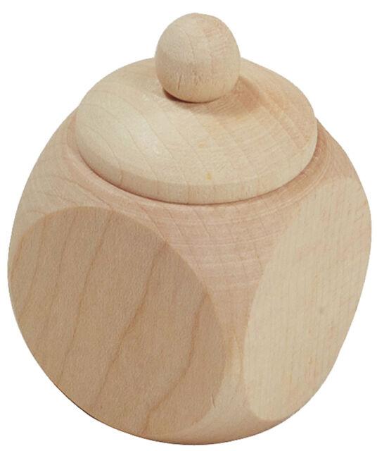 Holzdose Dose Döschen Schachtel mit Schraubdeckel 3 x 3 x 4,9 cm aus Ahornholz
