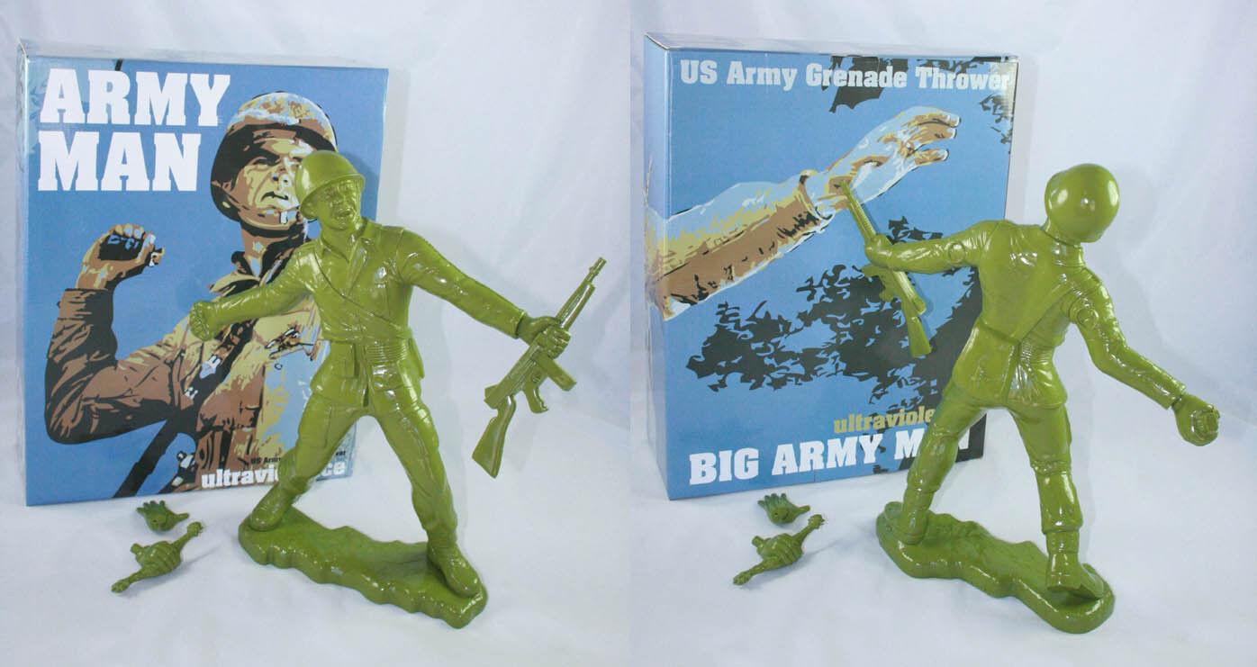 Frank Kozik 17  2009 verde militar gran hombre del Ejército Edición Limitada 50 Vinilo Ultraviolence Busto Raro