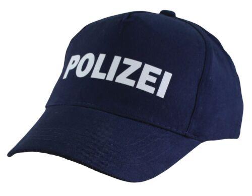 Kinder Cap Mütze blau Polizei