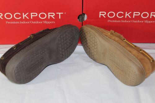 ROCKPORT SUEDE MOCCASIN INDOOR//OUTDOOR MEN/'S SLIPPERS,71RQ670025