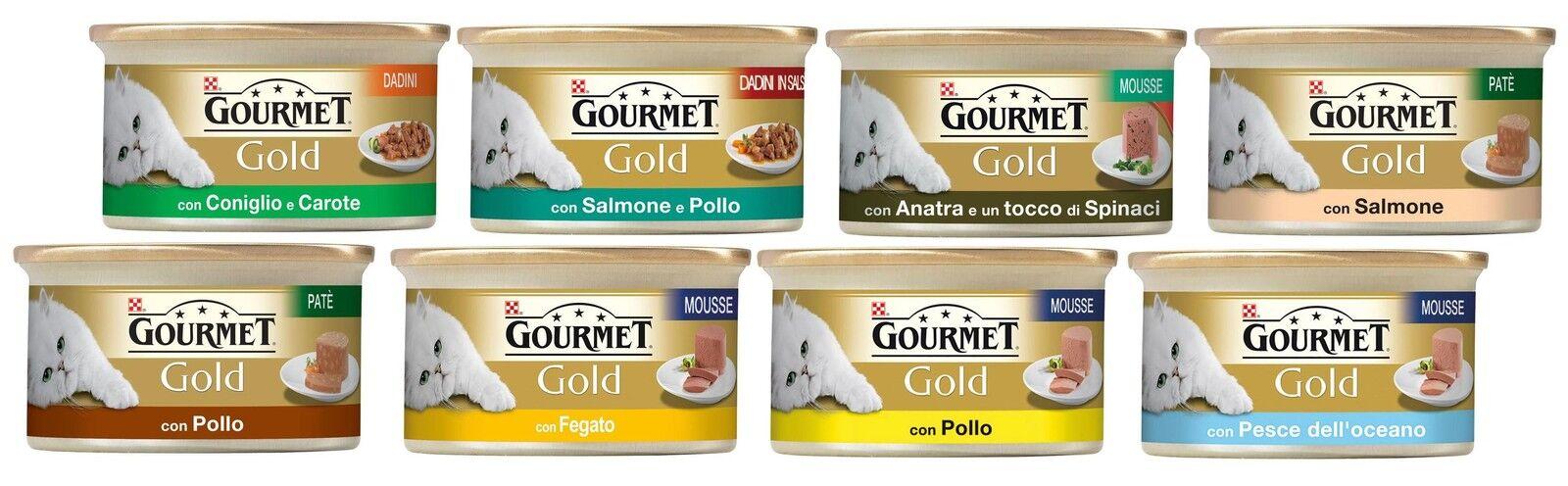 Gourmet oro 100 scatolette scatolette scatolette 85 grammi gusti misti per gatto 6bf76f