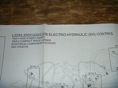 new holland l225 l230 skid steer loader compon electrical wiring diagram  manual  ebay