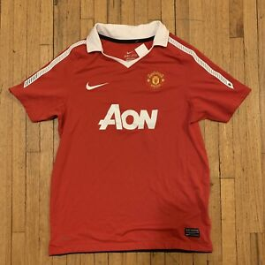 5c610ce1a Nike Dri Fit Manchester United Red Jersey AON Size Small Man U