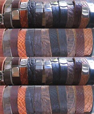 Clever Lederarmband Herrenarmband Armband Neu Schwarz Braun Edelstahl Herren Leder HüBsch Und Bunt