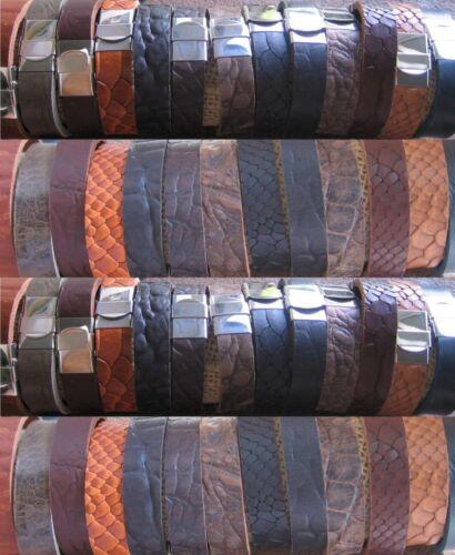 Lederarmband Herrenarmband Armband neu schwarz braun Edelstahl Herren Leder