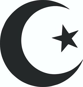 Details about MOON & STAR Stickers (Pakistan, Islam, Turkey) ideal for  walls, glass and more