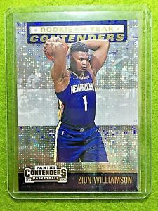 ZION-WILLIAMSON-PRIZM-CARD-ROOKIE-OF-THE-YEAR-PELICANS-2019-20-Contenders-INSERT