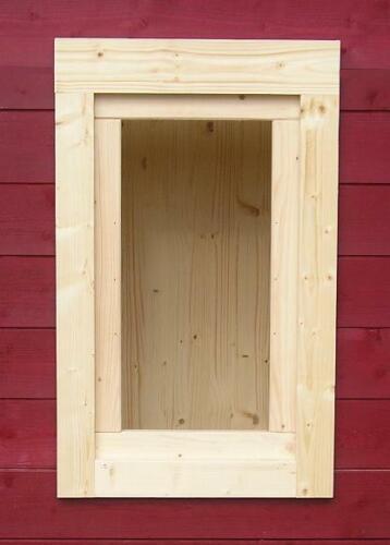 Gartenhausfenster 35x60cm Holzfenster Fenster Carport Garage Plexiglas 0RA3