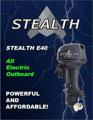 Stealth E40 40 HP All Electric Outboard Motor | eBay