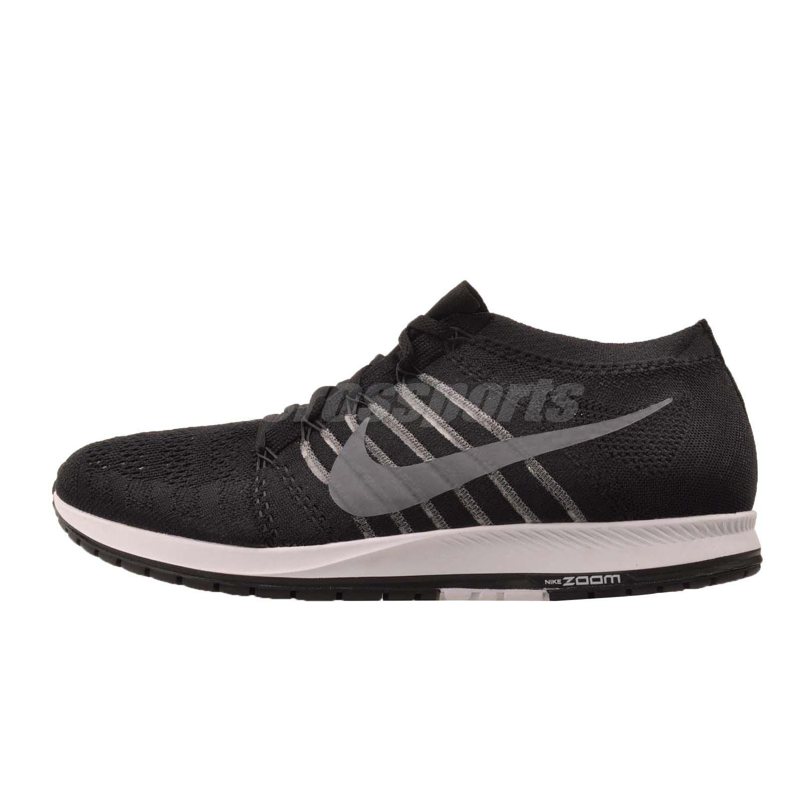 N i k e Flyknit Streak Running Mens Shoes Black Grey White 835994-010