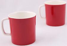 HI LUXE DBL CLR MELAMINE TEA COFFEE CUP MUG GIFT CROCKERY - Red (2Pcs Set )