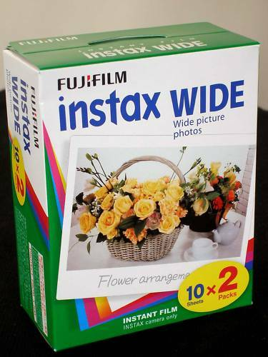 Fuji Instax Wide inmediatamente imagen película 4 películas precio especial!! MHD 01//2020
