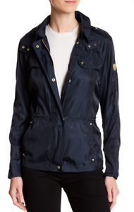 Vince Camuto Quilt Trim Hooded Anorak Navy NWT