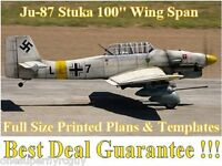 Junkers Ju-87 Stuka 100 Giant Scale Rc Airplane Printed Plans & Templates