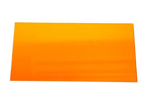 10pc Acrylic sheet 250x150x2mm Transparent Orange Taiwan