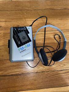Panasonic AM/FM Cassette Player• RX-SA60 Silver• PREOWNED COBY headphones CV-H56