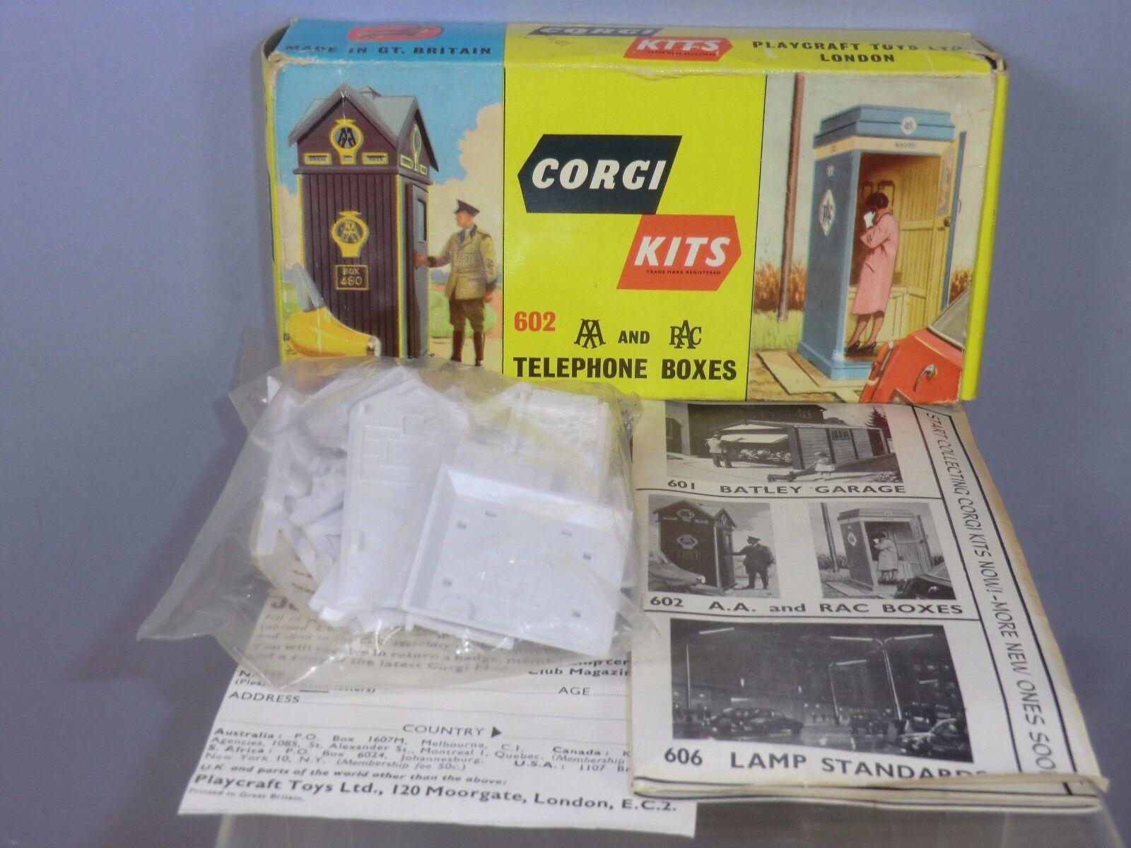 CORGI KITS  MODEL No. 602 A.A. & R.A.C. TELEPHONE  BOXES  MIB