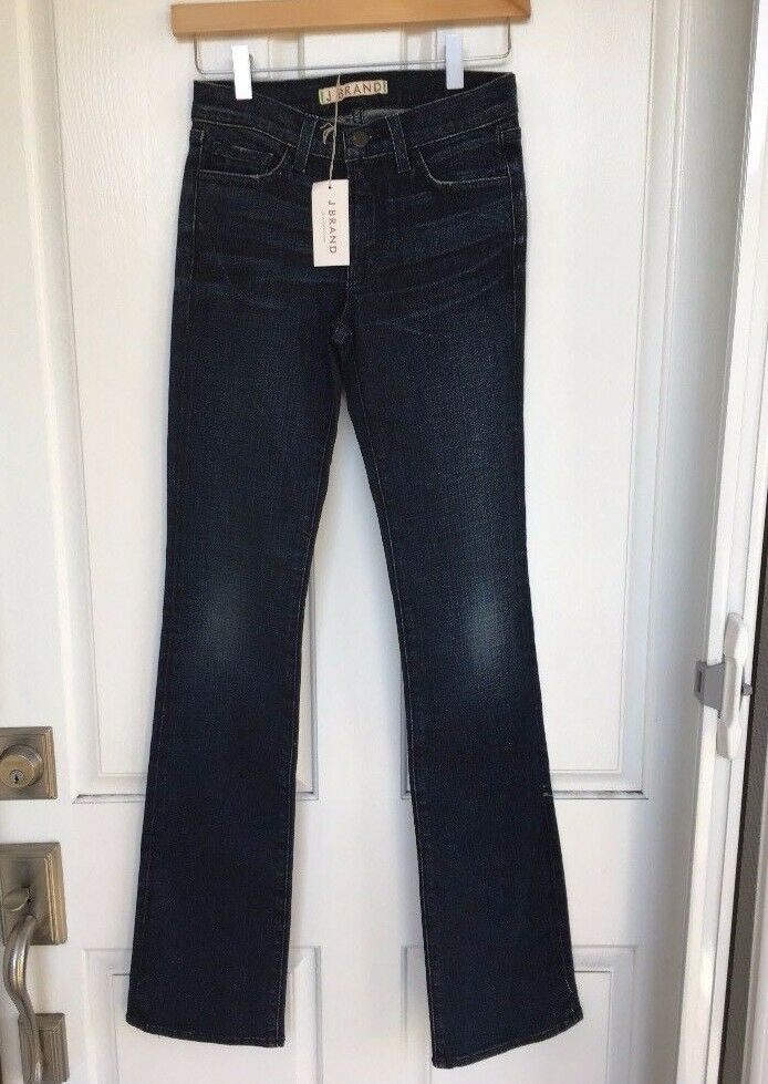NWT  Nordstrom J BRAND 805C009 Mid-Rise Straight Leg Jeans, 25 - bluee Ridge