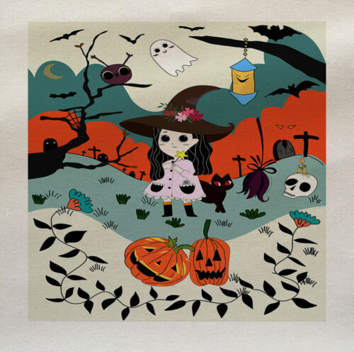 Halloween Bruja de tela de algodón tapicería ACOLCHA Retro Talla PERSONALIZADA PAÑO Craft