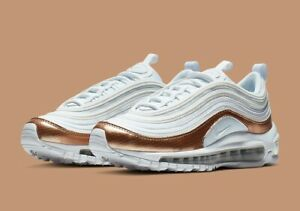 Nike Women's Air Max 97 EP (GS) White Red Bronze Size 4 Uk 36.5 Eu