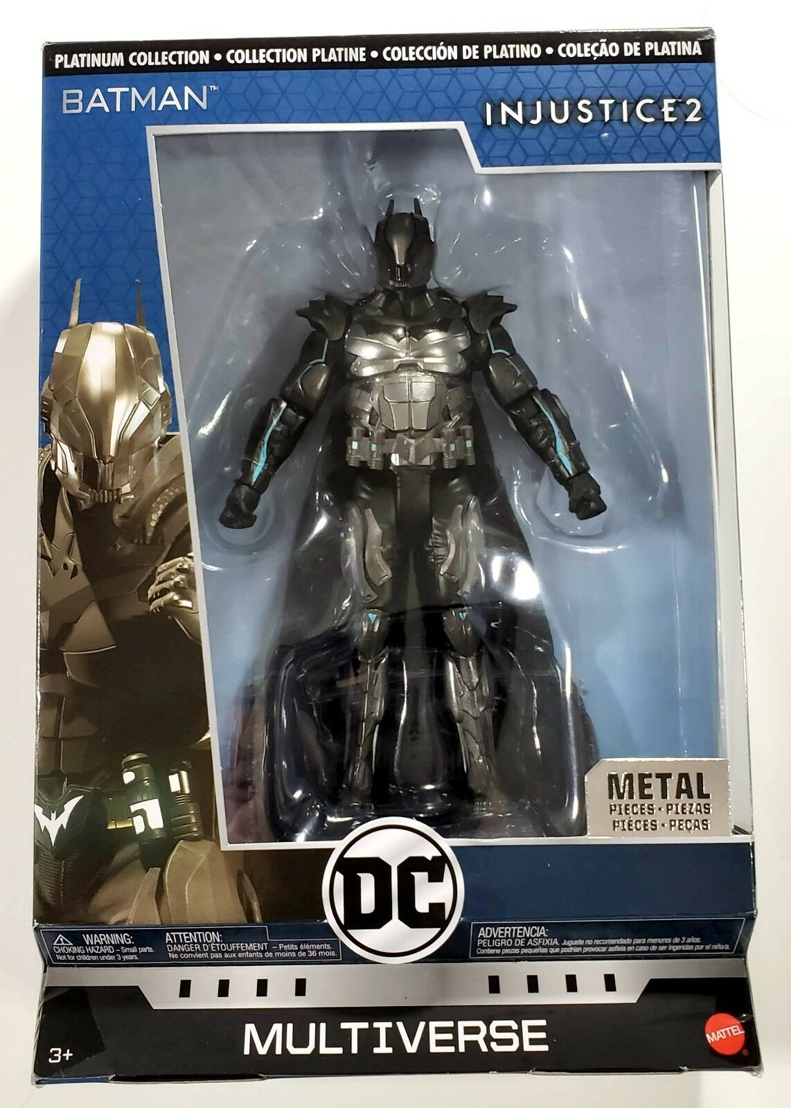 DC Multiverse Injustice 2 Batman Action Figure with Stand Platinum Collection