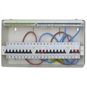 Details about 10 x MSD33 Metal Electrical Consumer Units | 6 Way Split Load  Boards + 60 MCB's