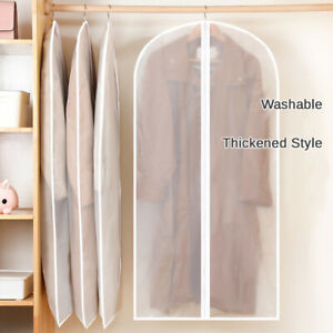 6 Plastic Clear Dust-proof Garment Bag Cloth Cover Suit Dress Storage Protector