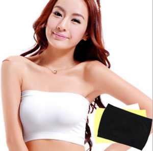 3ed4252a33 Black White Boob Tube Top Womens Strapless Bra Vest Crop Stretch ...