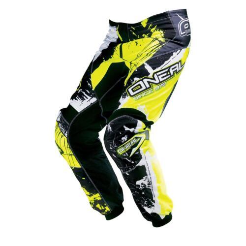 ONeal Element MX Hose SHOCKER Gelb Moto Cross Enduro Motorrad Quad Mountainbike