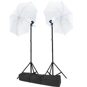 2PCS Photography Continuous Lighting Umbrella Light Lamp Photo Studio Stand Kit